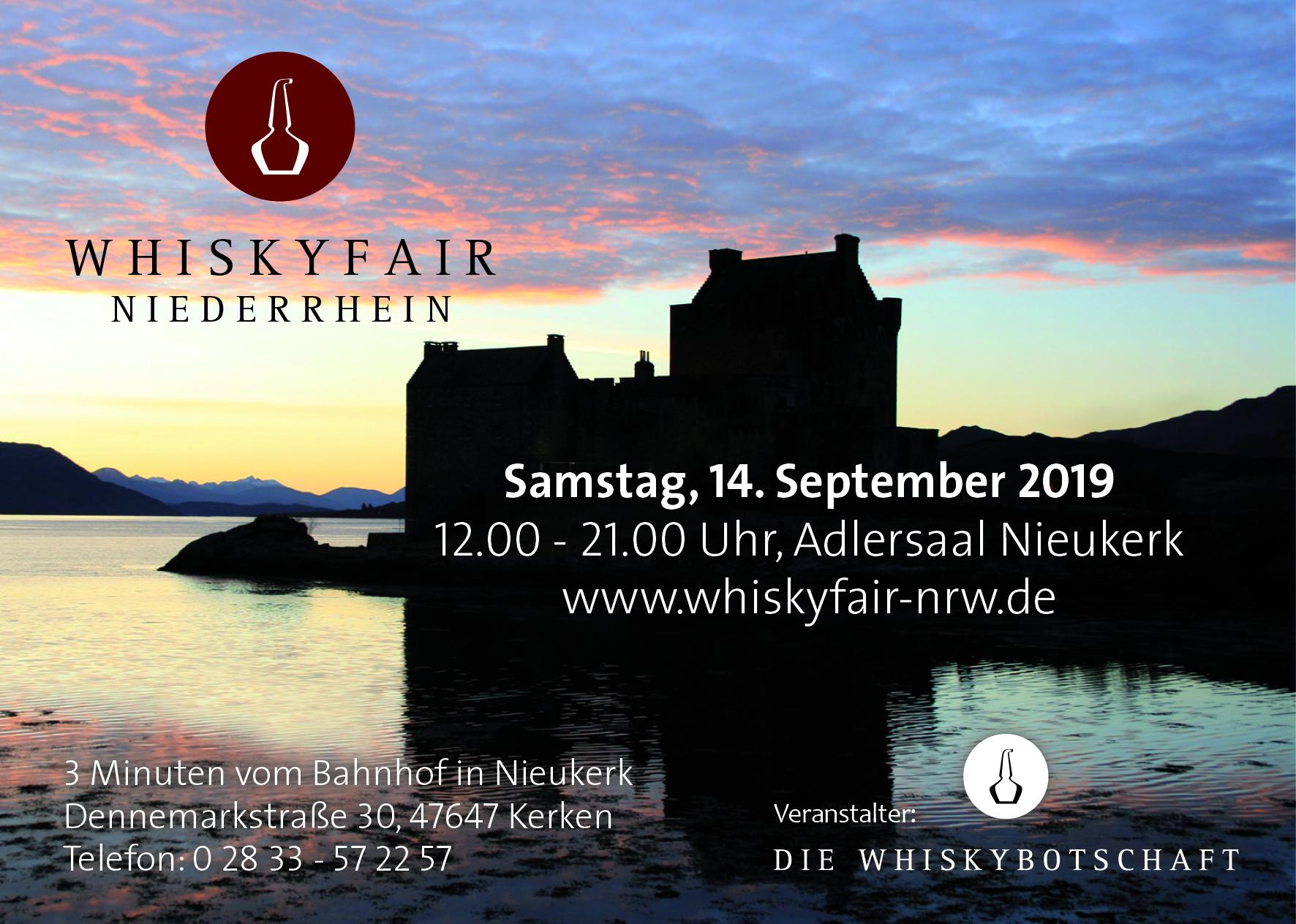 Am 14. September 2019 startet die 5. Whiskymesse am Niederrhein!